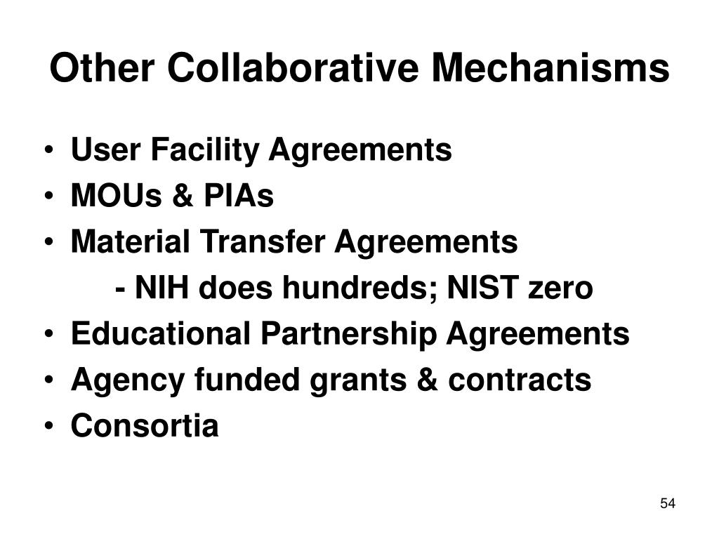 Other Collaborative Mechanisms