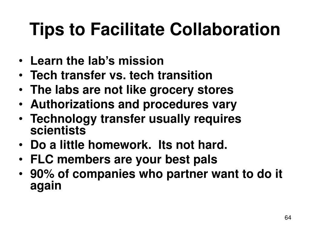 Tips to Facilitate Collaboration