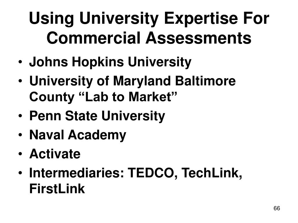 Using University Expertise For Commercial Assessments