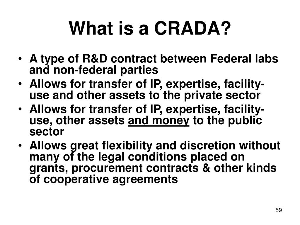 What is a CRADA?