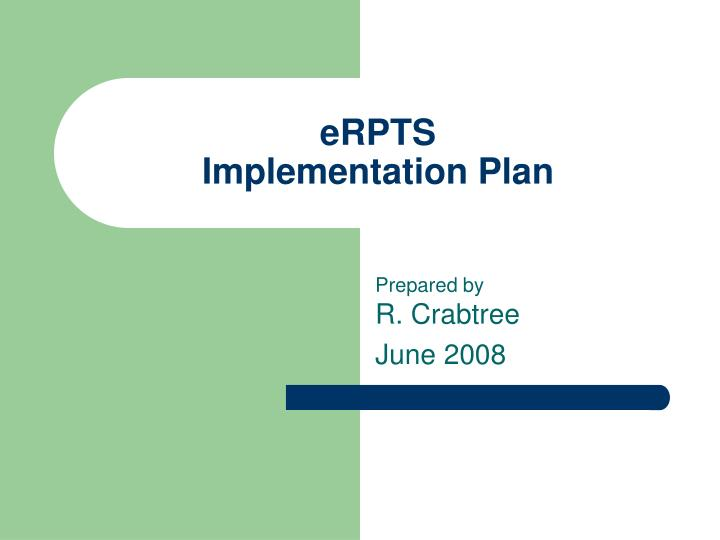 erpts implementation plan n.