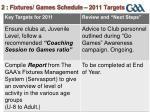 2 fixtures games schedule 2011 targets1