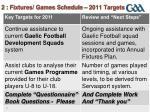 2 fixtures games schedule 2011 targets2