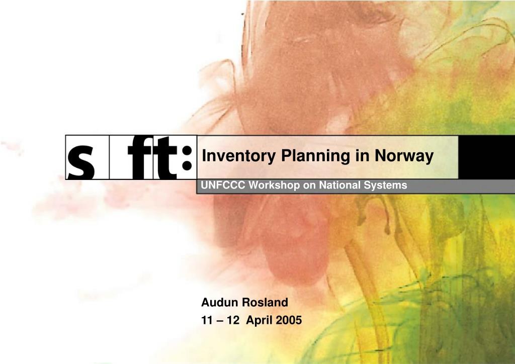 Inventory Planning in Norway
