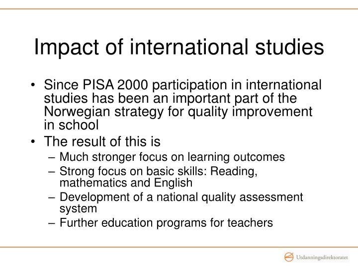 Impact of international studies