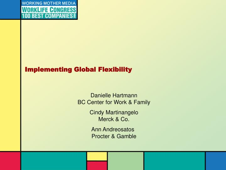 implementing global flexibility n.