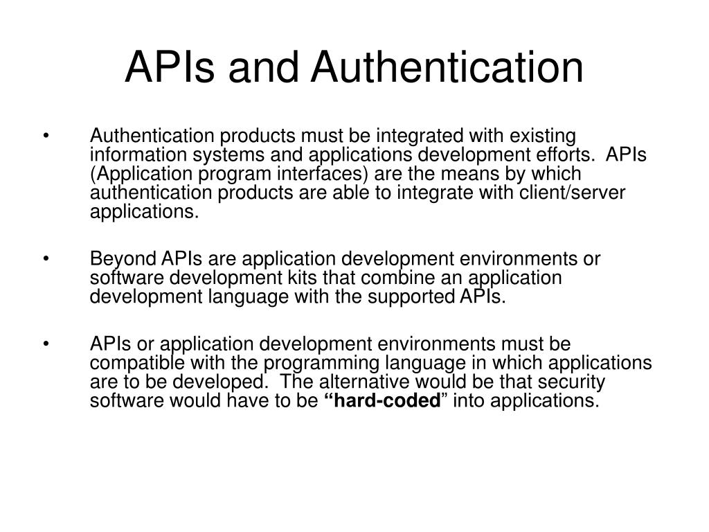 APIs and Authentication