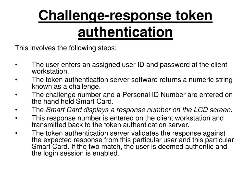 Challenge-response token authentication