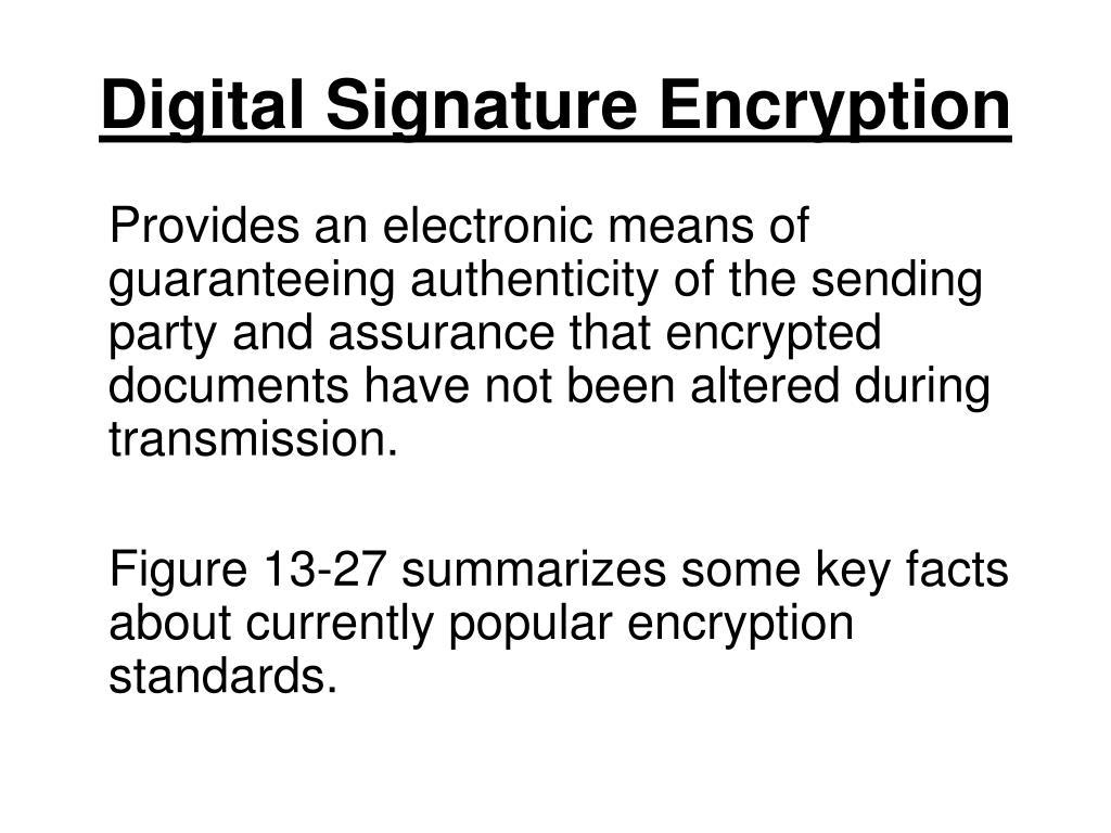 Digital Signature Encryption