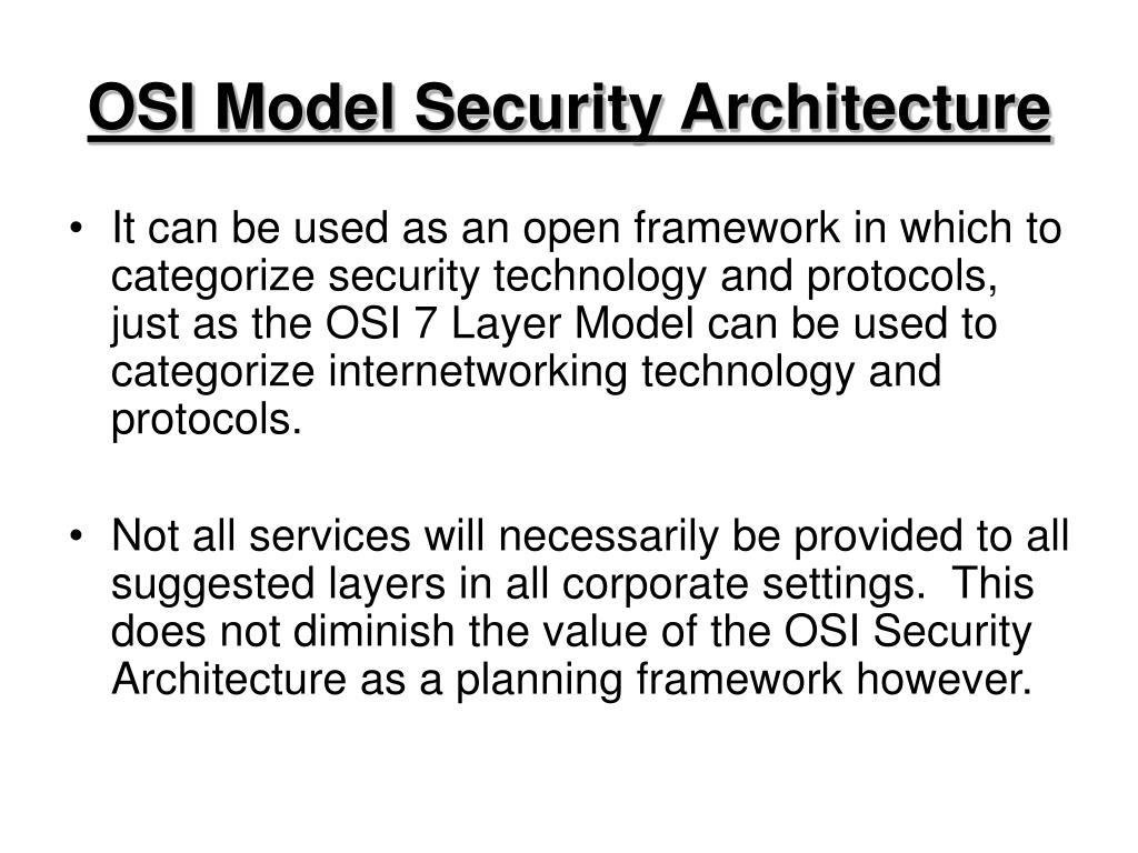 OSI Model Security Architecture