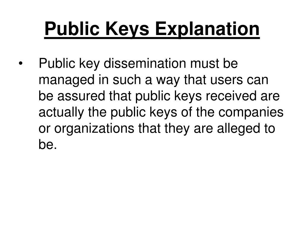 Public Keys Explanation