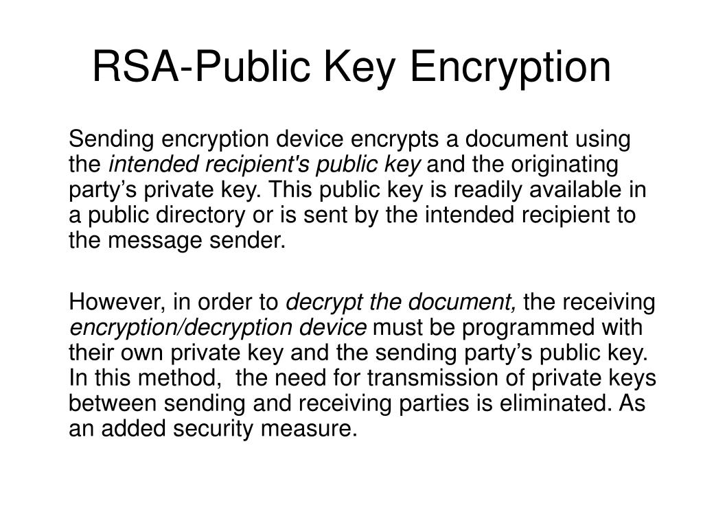 RSA-Public Key Encryption