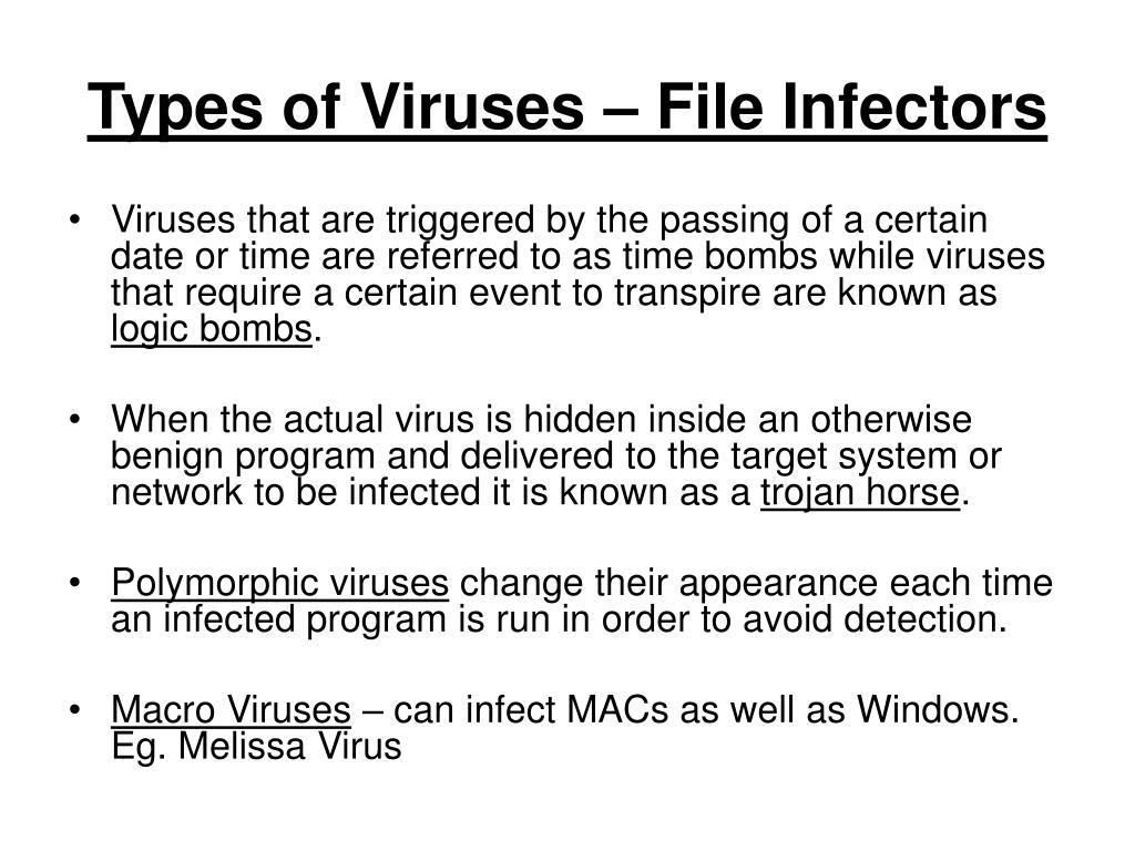Types of Viruses – File Infectors