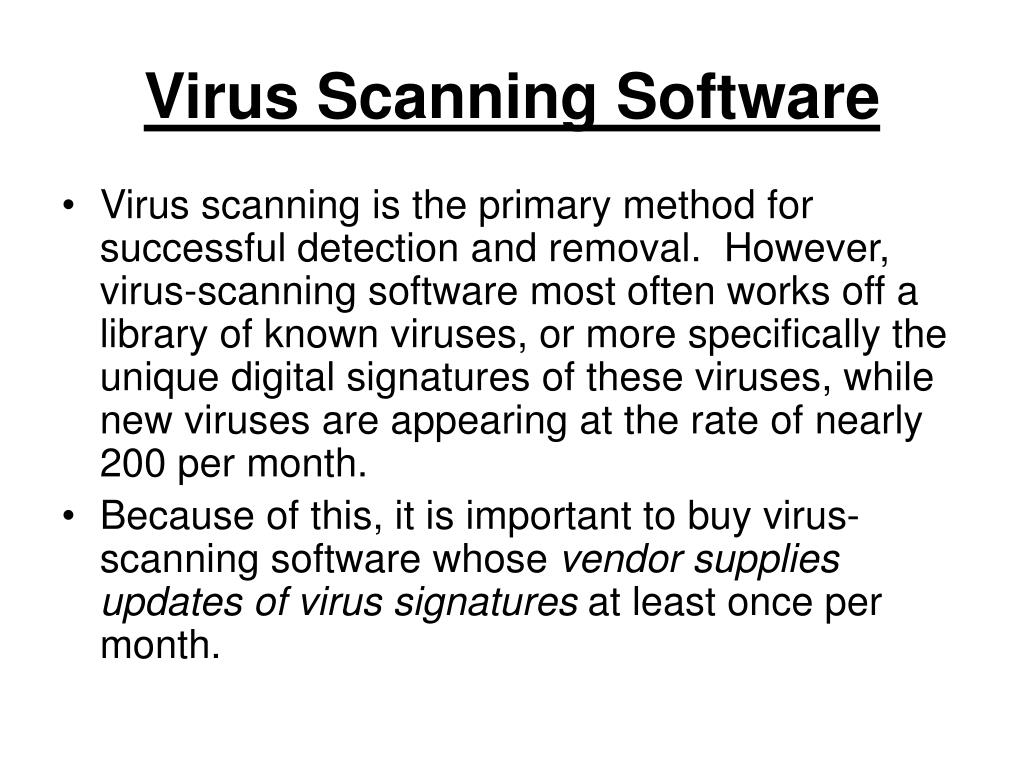 Virus Scanning Software