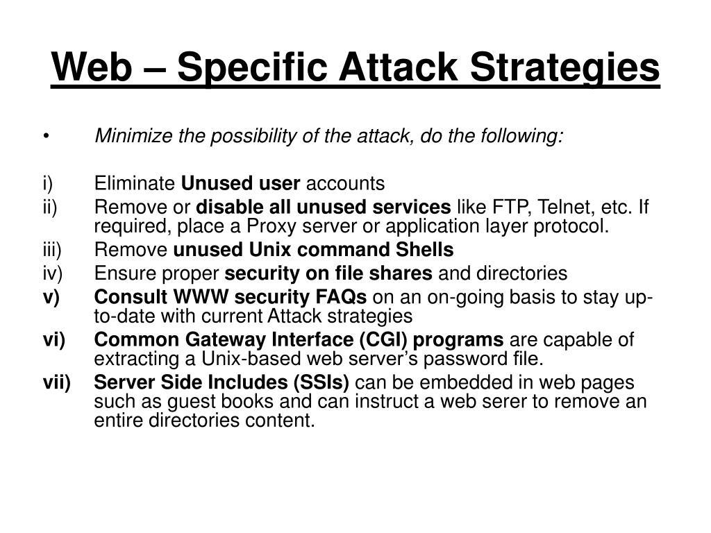 Web – Specific Attack Strategies