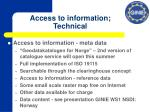 access to information technical
