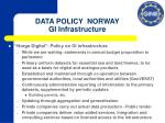 data policy norway gi infrastructure