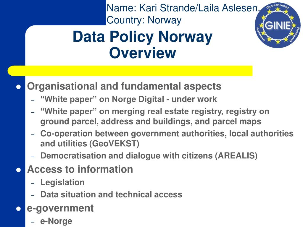 data policy norway overview l.