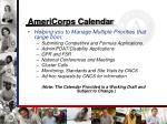 americorps calendar