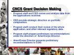 cncs grant decision making