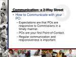 communication a 2 way street