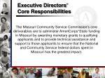 executive directors core responsibilities