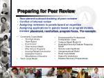 preparing for peer review