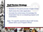 staff review strategy
