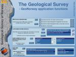 the geological survey geonorway application functions