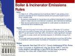 boiler incinerator emissions rules