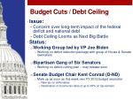 budget cuts debt ceiling