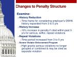 changes to penalty structure