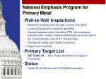 national emphasis program for primary metal