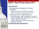 osha top priority issues 2011