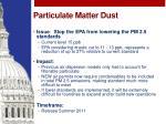 particulate matter dust