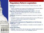 regulatory reform legislation