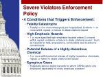 severe violators enforcement policy