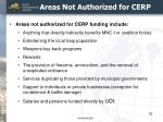 areas not authorized for cerp