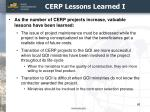 cerp lessons learned i