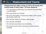 displacement and trauma