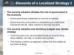 elements of a localized strategy i