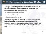 elements of a localized strategy ii