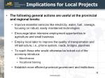 implications for local projects