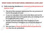 what does faith maturing obedience look like3