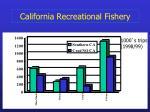 california recreational fishery