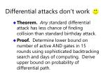 differential attacks don t work