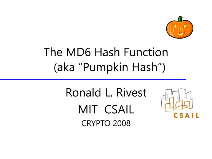the md6 hash function n.