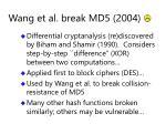 wang et al break md5 2004