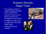anabolic steroids illegal trade