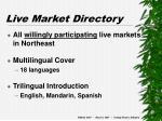 live market directory